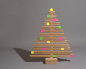Christmas Tree Styling Colored Spots