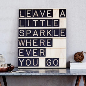 Leave a little Sparkle Wherever you Go - Message Me Board, available One Two Tree Designs