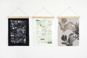 Tea Towels and Art Wall Hangings with One Two Tree Wooden Art Hanger