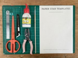 DIY Paper Star Templates by Minieco