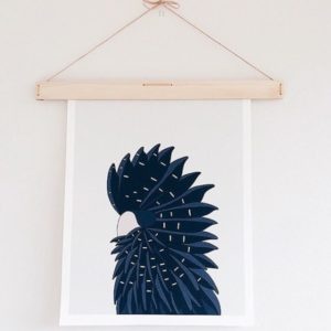 Art Hanging on Wooden Art Hanger from One Two Tree Designs