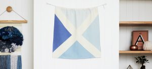 Nautical Linen Flag for Room Decoration - Maritime Signal Flags by One Two Tree Designs