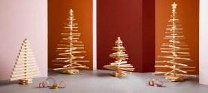 Small and Big Sized Wooden Christmas Trees by One Two Tree Designs