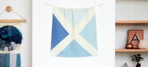 Linen Nautical Maritime Signal Flag from One Two Tree