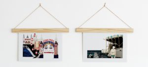 Art Hangings on a Wall with Wooden Art Hanger from One Two Tree Designs