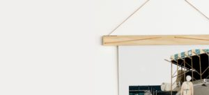Wall Art Hanging with Wooden Art Hanger from One Two Tree Designs