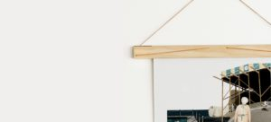 Wall Art Hanging on Wooden Art Hanger from One Two Tree Designs