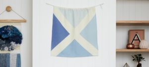 Linen Nautical Maritime Flag M2 from One Two Tree Designs