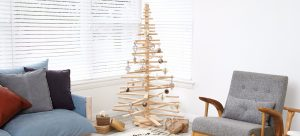 Wooden Christmas Tree Decoration in a Room - One Two Tree Designs