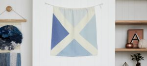 Linen Printed Nautical Maritime Signal Flag from One Two Tree Designs