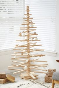 Wooden Christmas Tree with Australian Native Animals Ornament - Modern Tree Decorations by One Two Tree Designs