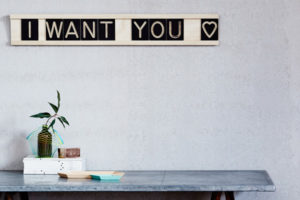I Want You 12x1 Message Me Board, available One Two Tree Designs
