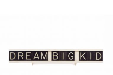 Dream Big Kid - 12x1 Wooden Message Board from One Two Tree