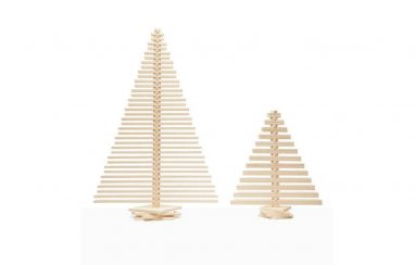 Small and Large Sized Wooden Christmas Trees from One Two Tree Design