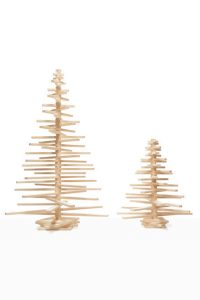 Small and Large Sized Wooden Christmas Trees by One Two Tree Designs