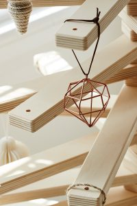 Wooden Christmas Tree with Hanging Ornament - Modern Tree Decorations from One Two Tree Designs