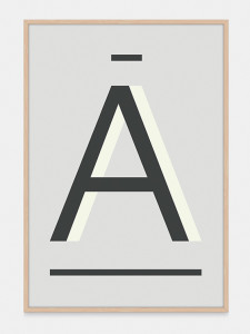 Gray Alphabet Art Print in the letter A, by One Two Tree