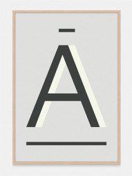 Grey Alpha Art Prints in Letter A, by One Two Tree