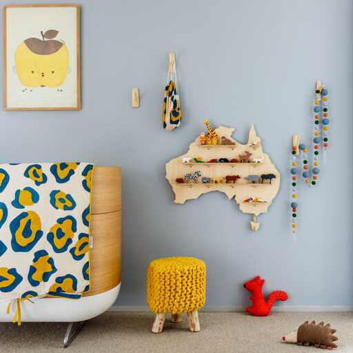 Child Friendly Wooden Shelf - Floating Wall Shelves by One Two Tree Designs