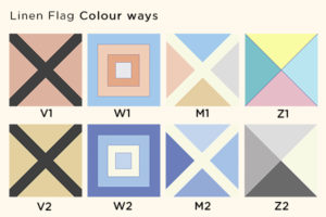Nautical Banner Linen Print Color Codes
