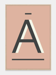 Fawn Alpha Art Prints in the letter A, by One Two Tree