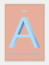 Blue Letter A Print - Alphabet Art Prints from One Two Tree Designs