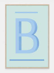 ABC Art Prints in Blue B, available on One Two Tree