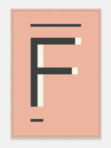 Fawn Alphabet Art Print in the letter F, by One Two Tree