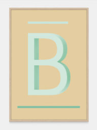 Alphabet Art Print in Green B, available on One Two Tree