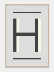 Grey Alphabet Art Print in the letter H, by One Two Tree