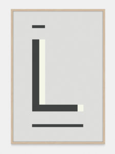 Grey Alphabet Art Print in the letter L, by One Two Tree