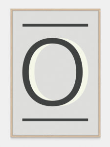 Grey Alphabet Art Print in the letter O, by One Two Tree