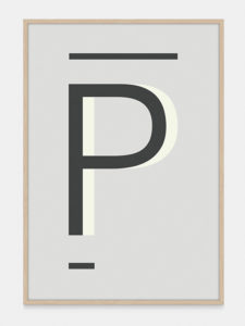 Grey Alphabet Art Print in the letter P, by One Two Tree