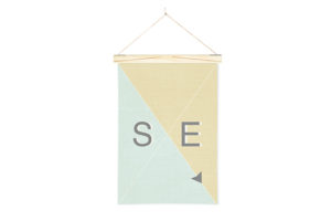 Linen Nautical Banner SE and Art Wall Hanger from One Two Tree Designs