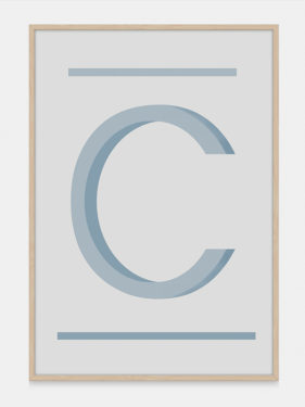 ABC Art Prints in Teal C, available on One Two Tree