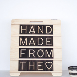 Mini Sandwich Wooden Message Board, available at One Two Tree Designs.