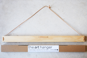 6x4 Wooden Art Hanger and Packaging, available at One Two Tree Designs