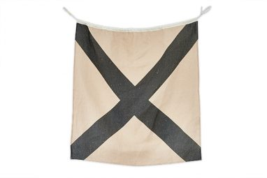 Linen Nautical Flag V available at One Two Tree
