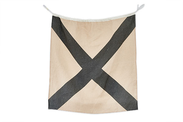 Linen-Nautical-Flag-V