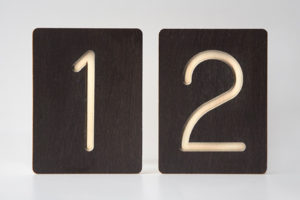 12 - Custom Wooden Number Tiles - Math Wooden Tiles by One Two Tree Designs