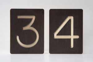 34 - Custom Wooden Number Tiles - Math Wooden Tiles by One Two Tree Designs