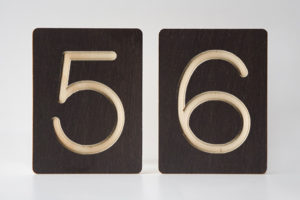56 - Custom Wooden Number Tiles - Math Wooden Tiles by One Two Tree Designs