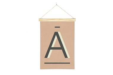 Linen print banner Fawn A from One Two Tree