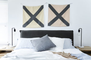 Linen Nautical Flags Wall Hanging