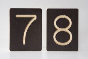 78 - Custom Wooden Number Tiles - Math Wooden Tiles by One Two Tree Designs