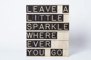 Leave a little Sparkle Wherever you Go - 7x6 Message Me Board, available One Two Tree Designs