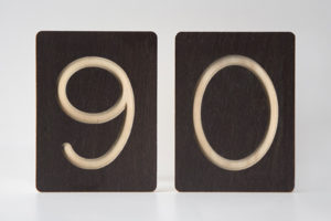 90 - Custom Wooden Number Tiles - Math Wooden Tiles by One Two Tree Designs