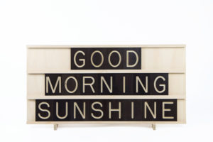 Good Morning Sunshine - 9x3 Wooden Message Board from One Two Tree Designs