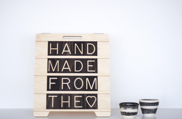 6x4 Mini Sandwich Wooden Message Board from One Two Tree Designs