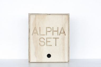 Alpha Set Wooden Tiles from One Two Tree